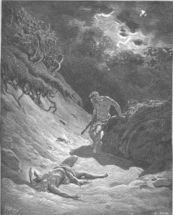 Cain Slays Abel by Gustav Dore