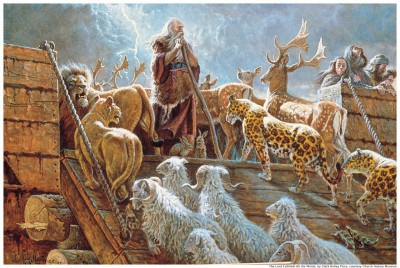 Mormons believe animals appeared spontaneously at different time periods rather than evolving.
