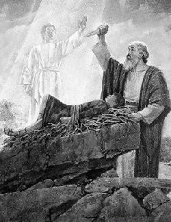 Abraham Sacrificing Isaac mormon