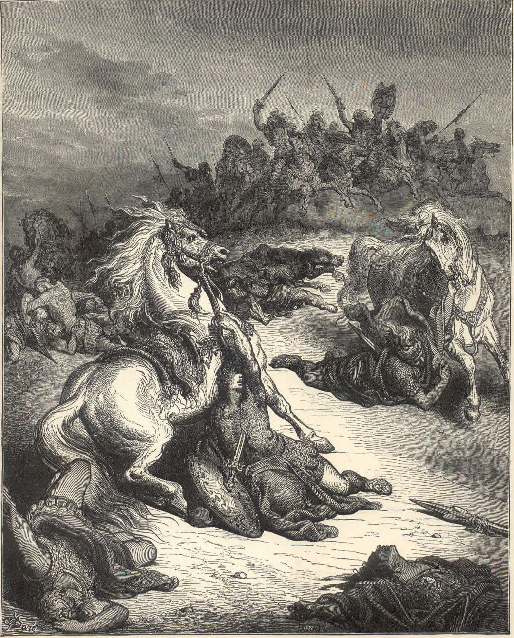 Death of Saul by Gustave Dore