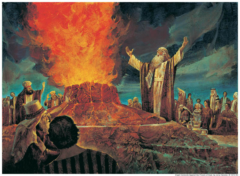 Elijah calls down fire from heaven mormon