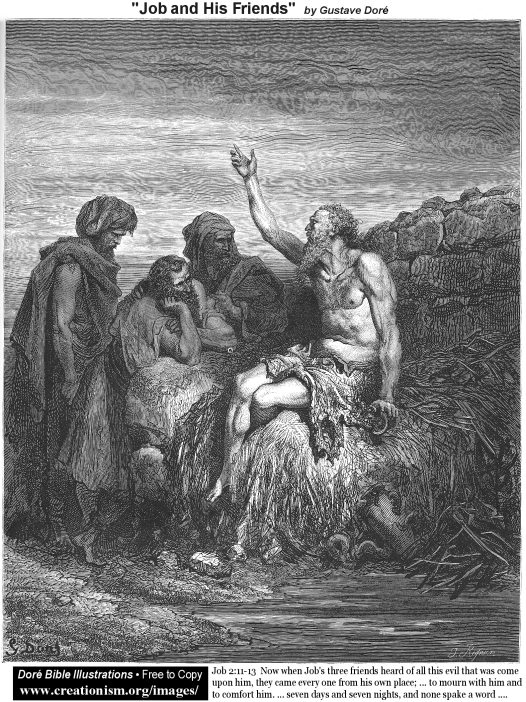 Job and his Friends Mormon by Gustave Dore
