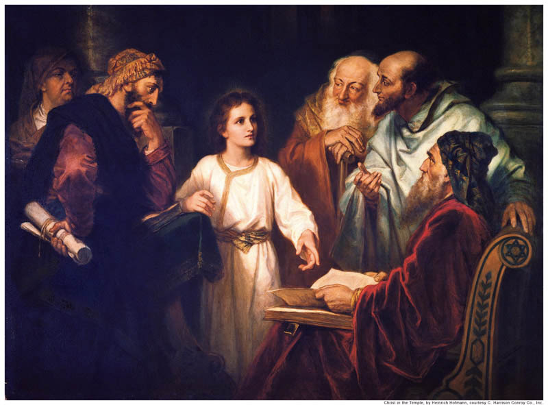 Jesus teaching in the temple mormon