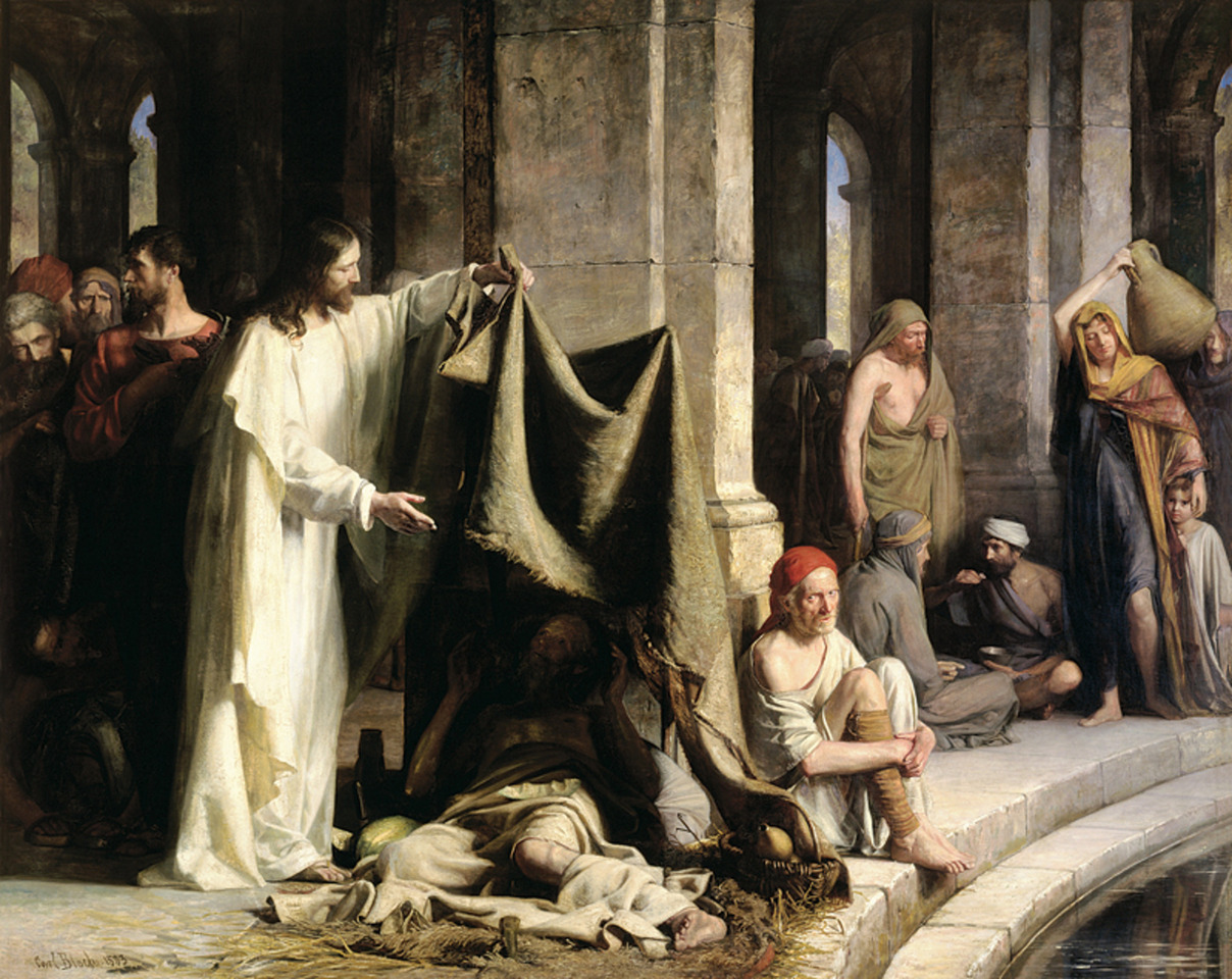 Christ by the Pool of Bethesda mormon by Bloch