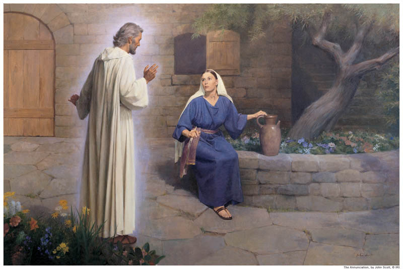 The Angel Gabriel appears to Mary mormon