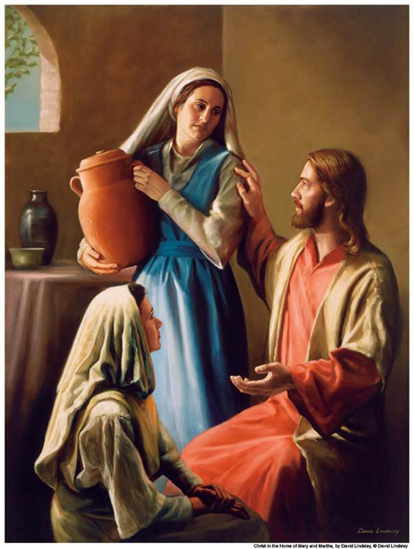 Jesus with Mary and Martha Mormon
