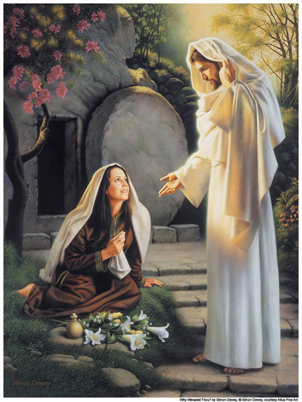 Mary Magdalene sees the resurrected Christ Mormon