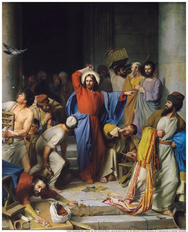 Jesus Cleansing Temple Mormon