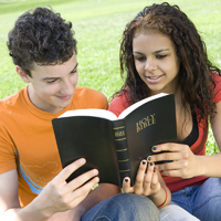 Teens Reading the Bible